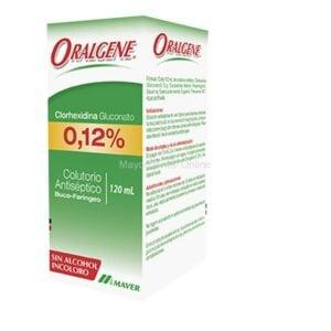 Clorhexidina Oralgene 120 ml, Laboratorio Maver