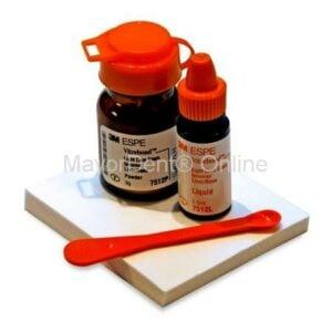 3M™ Vitrebond™ Ionomero de Vidrio 9 g polvo y 5,5 ml líquido, cuchara y block de mezcla