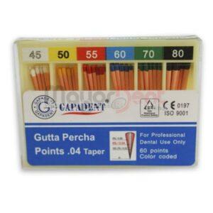 #45 AL 80 .04 TAPER CONOS GUTTA PERCHA, GAPADENT