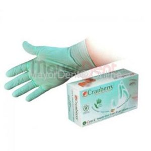 5 cajas de guantes latex sin polvo cyntek, Cranber...