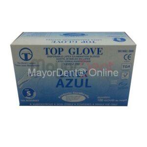 10 cajas de guantes latex azul c/ polvo, Top Glove...