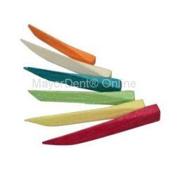 Set de cuñas de madera x 100 uds colores o surtidas, Polydentia Suiza