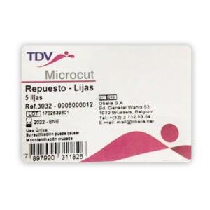 Repuesto de Lijas, Microcut por 5 unidades, TDV...