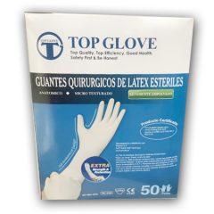 Caja Guantes Estéril, C/ Polvo x 50 Pares, Top Glove