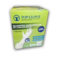 Caja de guantes estériles sin polvo x 100 unidades, Top Glove