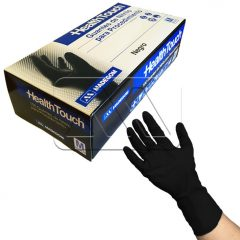 Caja de guantes nitrilo sin polvo negros x100 uds, Health Touch