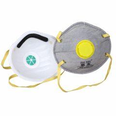 Pack 5 Mascarillas KN95 Gris c/ filtro y elastico amarillo