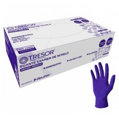 Caja guantes Nitrilo morado s/polvo x 100 Uds, TRESOR